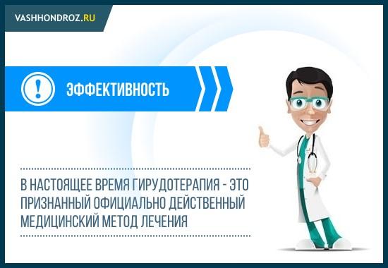Лечение пиявками официально признано медициной