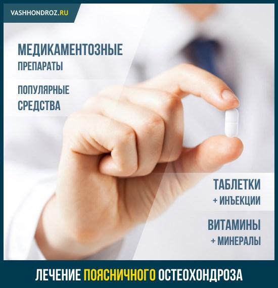 Лекарства при остеохондрозе поясничного отдела